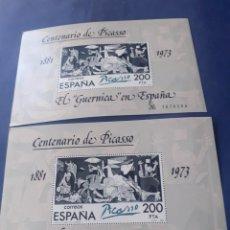 Sellos: LOTE DE 2 CARPETAS DE SELLOS CORRELATIVAS DEL CENTENARIO DEL GUERNICA. Lote 247684715