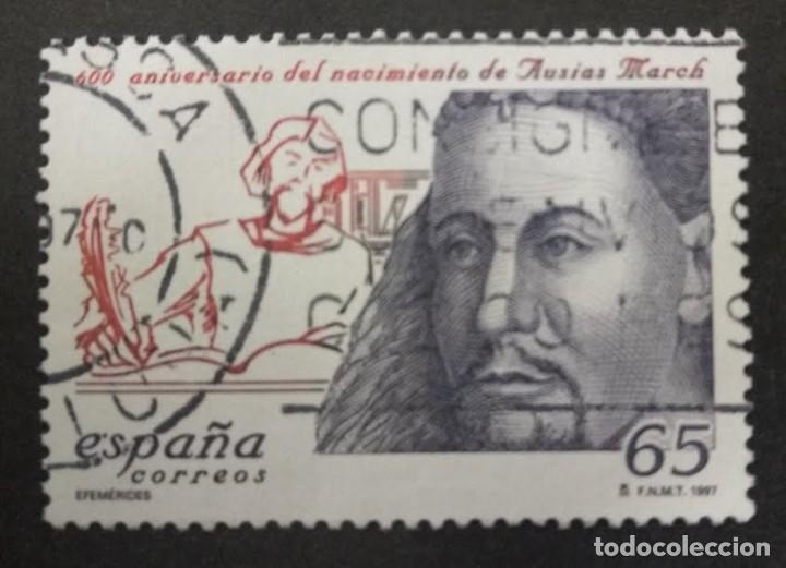 1997. ESPAÑA. - AUSIAS MARCH. (Sellos - España - Juan Carlos I - Desde 1.986 a 1.999 - Usados)