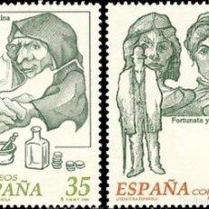 Sellos: ESPAÑA. AÑO 1998, EDIFIL 3538/39** ''LITERATURA: LA CELESTINA - FORTUNATA Y JACINTA''./ NUEVOS, MNH. Lote 264495934