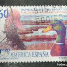 Timbres: FAUNA PATO COLORADO LAGUNAS MANCHEGAS FLORA EDIFIL 3394 USADO ESPAÑA 1995. Lote 248278640