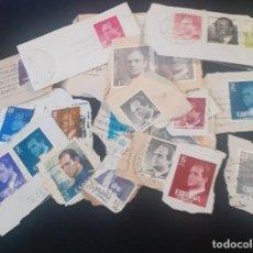 Sellos: LOTE DE 37 SELLOS DE JUAN CARLOS I, USADO, CON MATASELLOS RECORTADOS DE CARTAS. Lote 248382430