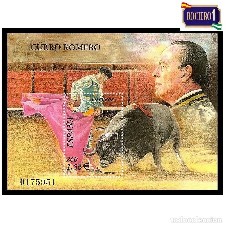 ESPAÑA 2001. EDIFIL 3834. TOROS, CURRO ROMERO. NUEVO** MNH (Sellos - España - Juan Carlos I - Desde 2.000 - Nuevos)