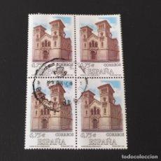 Sellos: ## SELLO USADO - IGLESIA DE SAN JORGE 2002 BLOQUE DE 4 ##. Lote 249356490