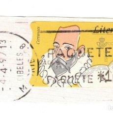 Sellos: ESPAÑA - ATM - LITERATURA - MIGUEL DE CERVANTES - CIRCULADO 4 ABRIL 1997 - MADRID. Lote 249496075