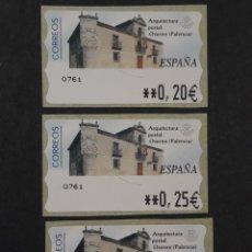 Selos: ATM - NUEVO - ESPAÑA 2002 - SERIE 3 VALORES - ARQUITECTURA POSTAL OSORNO. Lote 251262220
