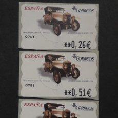 Selos: ATM - NUEVO - ESPAÑA 2003 - SERIE 3 VALORES - HISPANO SUIZA. Lote 251263595