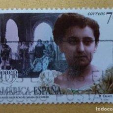Timbres: 1998. ESPAÑA. EDIFIL 3590. AMÉRICA-UPAEP. MARÍA GUERRERO. ACTRIZ. TEATRO.. Lote 251278960