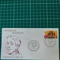 Sellos: 1977 CAMBADOS PONTEVEDRA GALICIA MATASELLO EXPOSICIÓN FILATÉLICA ALFIL COLECCIONISMO COLISEVM. Lote 253214520
