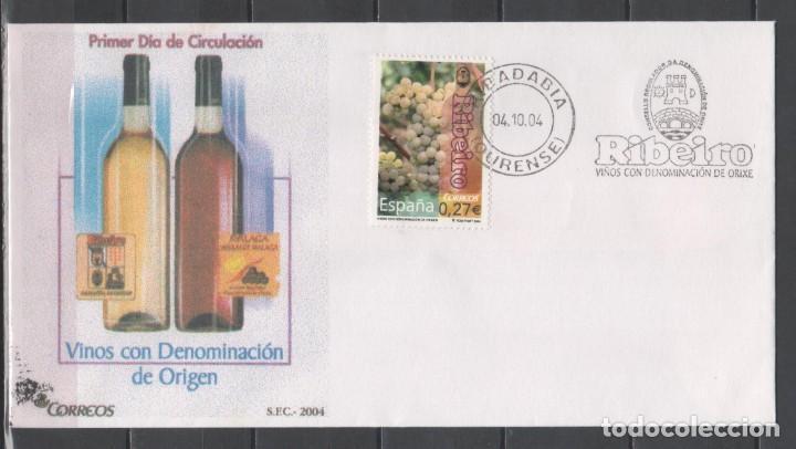 FDC, SOBRE DE PRIMER DÍA DE EMISIÓN DE ESPAÑA -VINOS CON DENOMINACIÓN, RIBEIRO-, AÑO 2004 (Sellos - España - Juan Carlos I - Desde 2.000 - Cartas)
