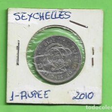 Sellos: SEYCHELLES. 1 RUPIA 2010. CUPRONIQUEL. KM#50.1. Lote 253730430