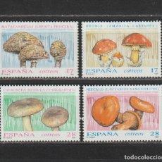 Sellos: ESPAÑA. Nº 3244/47 (*). AÑO 1993. MICOLOGÍA. NUEVO SIN GOMA.. Lote 253754310