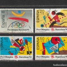 Selos: ESPAÑA. Nº 2963/66. AÑO 1988. BARCELONA'92. PRIMERA SERIE PREOLÍMPICA. USADO.. Lote 253861080