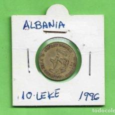 Sellos: ALBANIA, 10 LEKE 1996. BRONCE CON ALUMINIO. KM#77. Lote 253885655