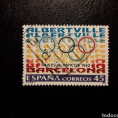 Sellos: ESPAÑA EDIFIL 3211 SERIE COMPLETA USADA 1992 OLIMPIADA ALBERTVILLE Y BARCELONA 92. PEDIDO MÍNIMO 3€. Lote 253904980