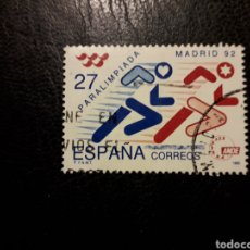 Sellos: ESPAÑA EDIFIL 3220 SERIE COMPLETA USADA 1992 PARALIMPIADA MADRID 92. DEPORTES. PEDIDO MÍNIMO 3€. Lote 253943210