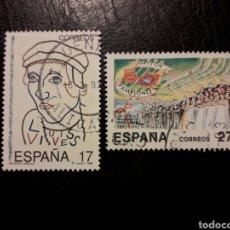 Sellos: ESPAÑA EDIFIL 3224/5 SERIE COMPLETA USADA 1992 JUAN LUIS VIVES. ORFEÓN PAMPLONÉS. PEDIDO MÍNIMO 3€. Lote 253943295
