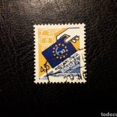 Sellos: ESPAÑA EDIFIL 3226 SERIE COMPLETA USADA 1992 MERCADO ÚNICO EUROPEO. MERCURIO. PEDIDO MÍNIMO 3€. Lote 253943345
