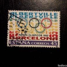 Sellos: ESPAÑA EDIFIL 3211 SERIE COMPLETA USADA 1992. OLIMPIADAS DE BARCELONA Y ALBERTVILLE PEDIDO MÍNIMO 3€. Lote 253943570