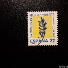 Sellos: ESPAÑA EDIFIL 3210 SERIE COMPLETA USADA 1992. DÍA MUNDIAL DEL MEDIO AMBIENTE. PEDIDO MÍNIMO 3€. Lote 253943615