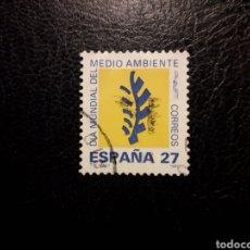 Sellos: ESPAÑA EDIFIL 3210 SERIE COMPLETA USADA 1992. DÍA MUNDIAL DEL MEDIO AMBIENTE. PEDIDO MÍNIMO 3€. Lote 253943630