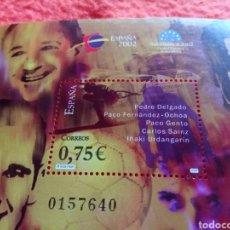 Sellos: 14- SELLO DE CORREOS DE ESPAÑA. EMISIÓN DE 2002. TAL CUAL SE VE. PEDRO DELGADO, GENTO.... Lote 254026850