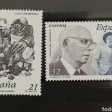 Sellos: ESPAÑA N°3483/84 MNH**LITERATURA ESPAÑOLA 1997 (FOTOGRAFÍA REAL). Lote 254067180