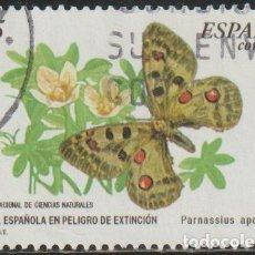 Sellos: ESPAÑA 2000 EDIFIL 3694 SELLO º FAUNA ESPAÑOLA EN PELIGRO DE EXTINCION MARIPOSA PARNASSIUS APOLLO. Lote 254210070