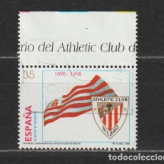 Sellos: ESPAÑA. EDIFIL Nº 3530. AÑO 1998. DEPORTES - ATHLETIC CLUB DE BILBAO. USADO.. Lote 254382105