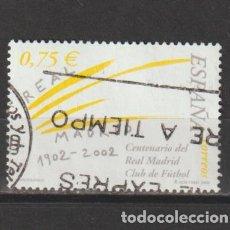 Timbres: ESPAÑA. EDIFIL Nº 3880. AÑO 2002. CENT. DEL REAL MADRID. USADO.. Lote 254406120