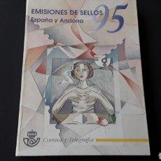 Sellos: LIBRO OFICIAL CORREOS 1995, EMISIÓN SELLOS ESPAÑA Y ANDORRA. Lote 254451980