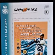 Sellos: HOJA CENTENARIO FUTBOL CLUB ESPAÑOL DE BARCELONA BARNAFIL 2000 DEPORTES. Lote 254548915