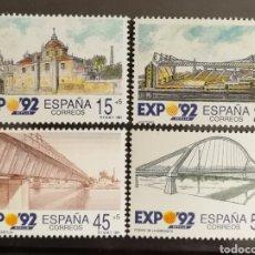 Sellos: ESPAÑA N°3100/03 MNH**EXPOSICIÓN UNIVERSAL DE SEVILLA 92` (FOTOGRAFÍA ESTÁNDAR). Lote 254582105