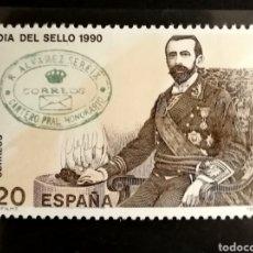 Sellos: ESPAÑA N°3057 MNH**DÍA DEL. SELLO 1990 (FOTOGRAFÍA ESTÁNDAR). Lote 254595800