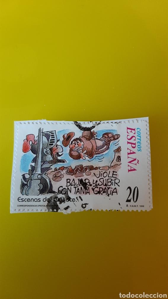 EDIFIL 3568 USADO ESCENAS QUIJOTE EPISTOLAR 1998 ESPAÑA FILATELIA COLISEVM (Sellos - España - Juan Carlos I - Desde 1.986 a 1.999 - Usados)