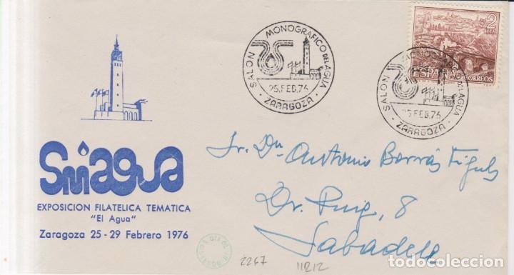 AÑO 1976 EDIFIL 2267 SALON MONOGRAFICO DEL AGUA ZARAGOZA (Sellos - España - Juan Carlos I - Desde 1.975 a 1.985 - Cartas)