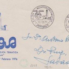 Sellos: AÑO 1976 EDIFIL 2267 SALON MONOGRAFICO DEL AGUA ZARAGOZA. Lote 254766765