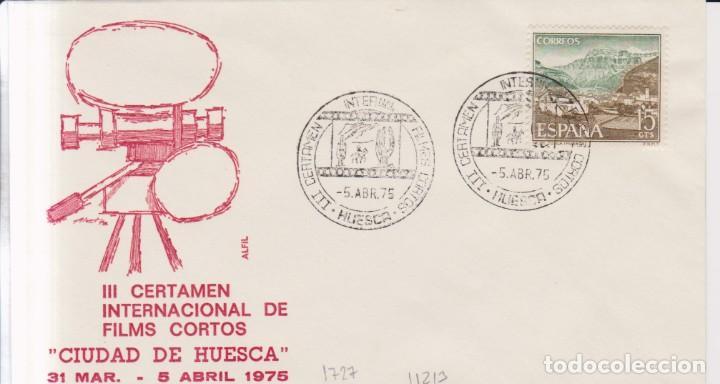 AÑO 1975 EDIFIL 1727 III CERTAMEN INTERNACIONAL DE FILMS CORTOS HUESCA (Sellos - España - Juan Carlos I - Desde 1.975 a 1.985 - Cartas)