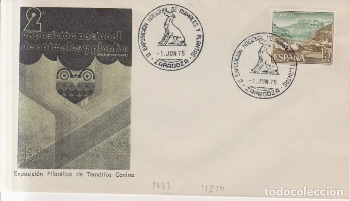 AÑO 1975 EDIFIL 1727 II EXPO NACIONAL DE ANIMALES Y PLANTAS ZARAGOZA (Sellos - España - Juan Carlos I - Desde 1.975 a 1.985 - Cartas)