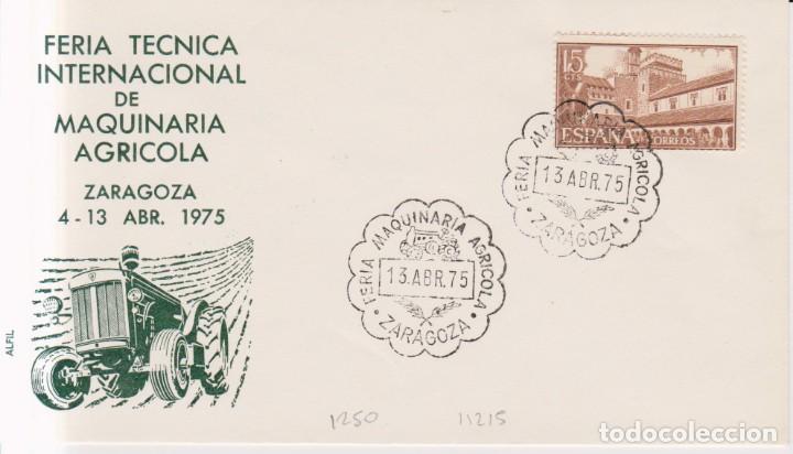 AÑO 1975 EDIFIL 1250 FERIA MAQUINARIA AGRICOLA ZARAGOZA (Sellos - España - Juan Carlos I - Desde 1.975 a 1.985 - Cartas)