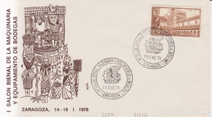 AÑO 1976 EDIFIL 1250 I SALON MAQUINARIA Y EQUIPAMIENTO DE BODEGAS ZARAGOZA (Sellos - España - Juan Carlos I - Desde 1.975 a 1.985 - Cartas)