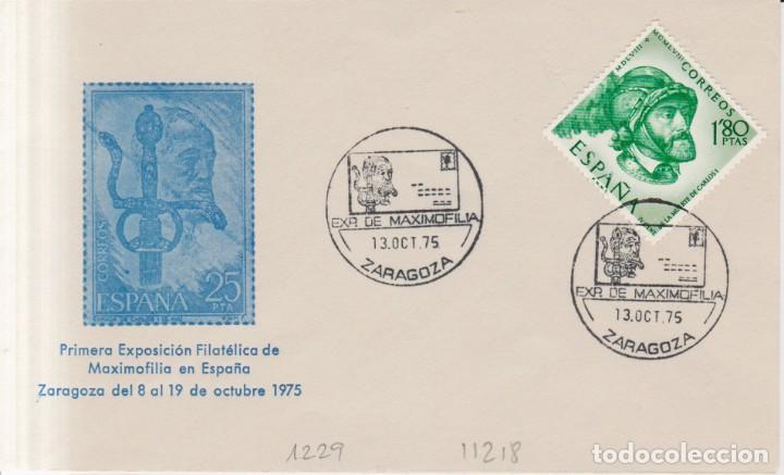 AÑO 1975 EDIFIL 1229 SPD FDC EXPO DE MAXOFILIA ZARAGOZA (Sellos - España - Juan Carlos I - Desde 1.975 a 1.985 - Cartas)