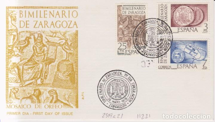 AÑO 1976 EDIFIL 2319 A 2321 SPD FDC BIMILENARIO DE ZARAGOZA (Sellos - España - Juan Carlos I - Desde 1.975 a 1.985 - Cartas)