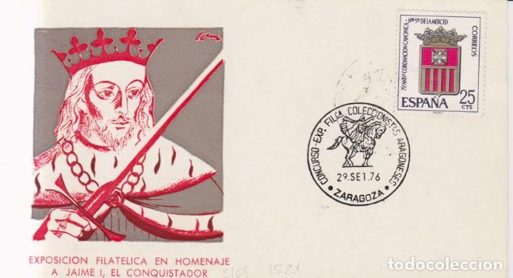 AÑO 1976 EDIFIL 2164-1521 EXPO FILATELICA EN HOMENAJE A JAIME I EL CONQUISTADOR ZARAGOZA (Sellos - España - Juan Carlos I - Desde 1.975 a 1.985 - Cartas)