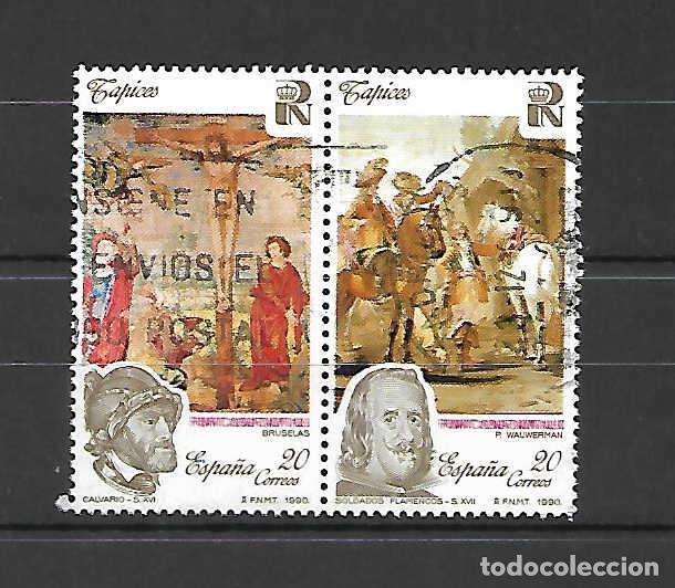 TAPIZ DEL PATROMONIO NACIONAL. ESPAÑA. EMIT. 26-11-1990 (Sellos - España - Juan Carlos I - Desde 1.986 a 1.999 - Usados)