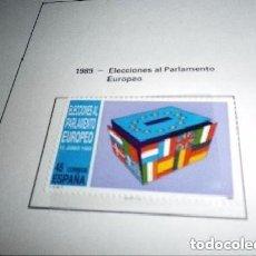 Sellos: ESPAÑA 3015*** - AÑO 1989 - ELECCIONES AL PARLAMENTO EUROPEO. Lote 255459080