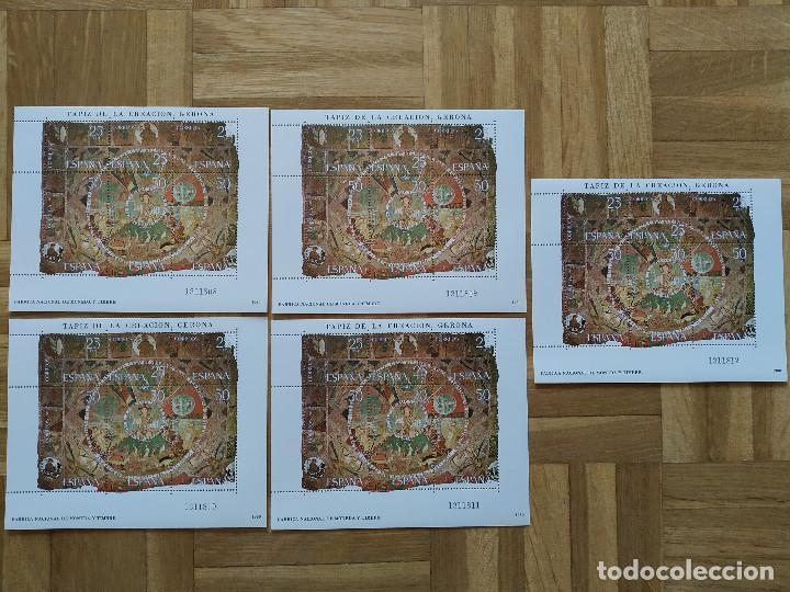 4 HOJAS BLOQUE. 1980. TAPIZ DE LA CREACION. GERONA. NUEVAS Y NUMERACIONES CORRELATIVAS. VER FOTOS (Sellos - España - Juan Carlos I - Desde 1.975 a 1.985 - Nuevos)