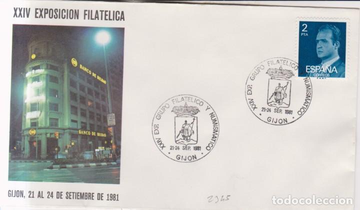 AÑO 1981 EDIFIL 2345 SPD FDC XXIV EXPO FILATELICA GIJON (Sellos - España - Juan Carlos I - Desde 1.975 a 1.985 - Cartas)