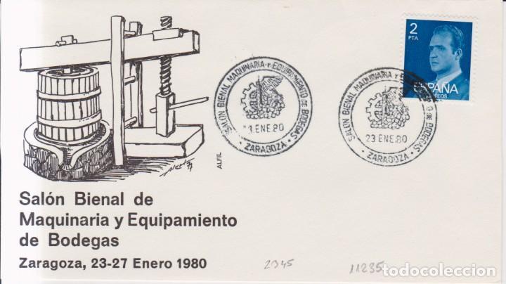AÑO 1980 EDIFIL 2345 SPD FDCSLON MAQUINARIA Y EQUIPAMIENTO DE BODEGAS ZARAGOZA (Sellos - España - Juan Carlos I - Desde 1.975 a 1.985 - Cartas)