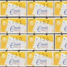 Sellos: ETIQUETAS ATM, SERIE COMPLETA,ESPAMER 96.. Lote 256048720