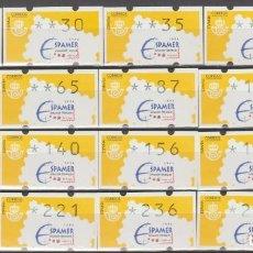 Sellos: ETIQUETAS ATM, SERIE COMPLETA, SPAMER 96.. Lote 256051555